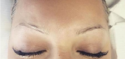 Microblading Eyebrows Before